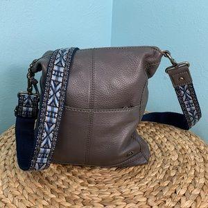 The SAK Lucia Gray Leather Crossbody Bag Purse